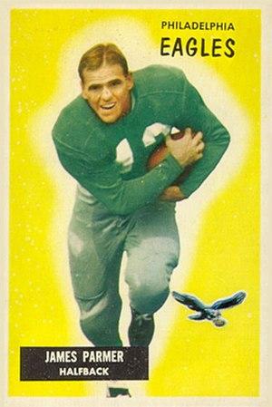Jim Parmer - Parmer on a 1955 Bowman football card