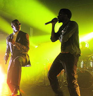 "The College Dropout - The album's second single, ""Slow Jamz"", features vocalist Jamie Foxx (left)."