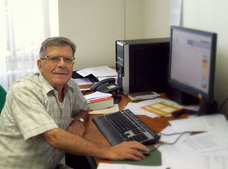 Jan Kmenta - Kmenta at his CERGE-EI office