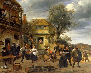 Jan Steen - Jan Steen Peasants before an Inn