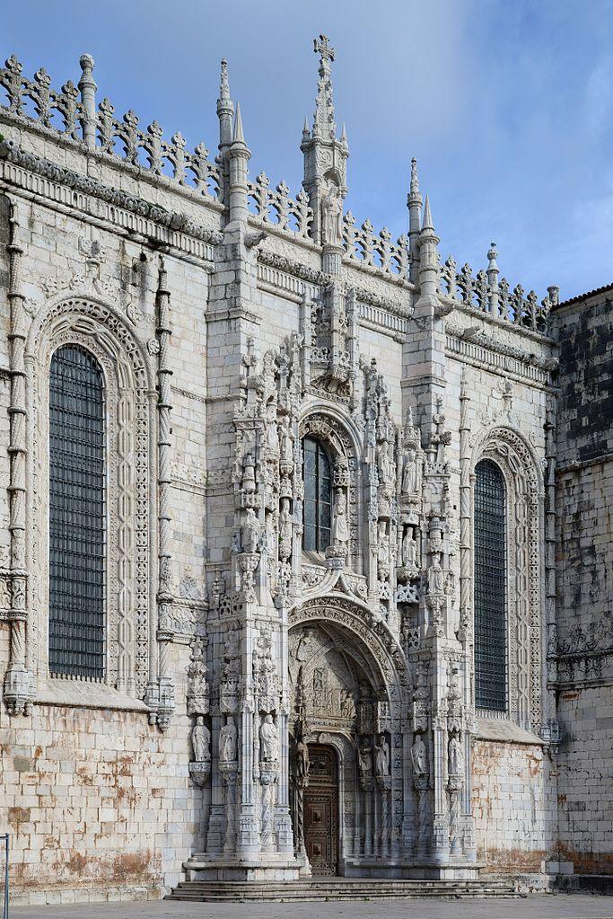 Monument : Porte sud du Monastère des Jerónimos à Lisbonne - Photo de Alvesgaspar