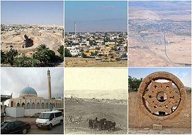 9c82211f9 من اليمين بإتجاه عقارب الساعة، منظر جوي للمدينة، نجمة قصر هشام، أريحا عام  1906، مسجد أريحا الكبير، تل السلطان، منظر عام للمدينة