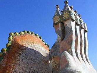 Trencadís - Image: Jfader batto roof