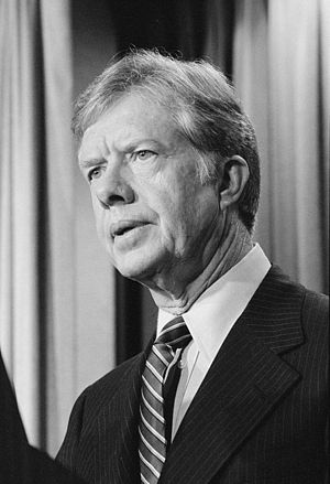 President Jimmy Carter announces new sanctions...