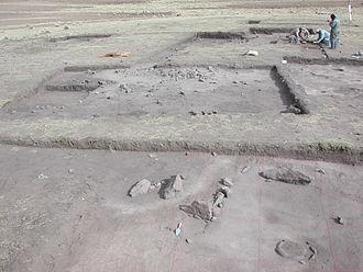 Jisk'a Iru Muqu - Excavations at the site of Jisk'a Iru Muqu in 2002