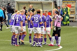 Jitex BK - Before a match with Umeå IK in 2011