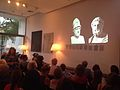 Joanna Connely - Parthenon Enigma book launch and lecture - Pharos Arts Foundation - The Shoe Factory 2014.jpg