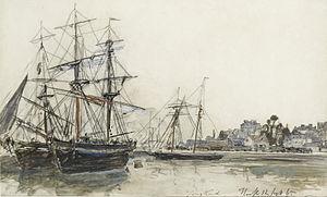 Johan Barthold Jongkind - Boten in de haven van Honfleur.jpg