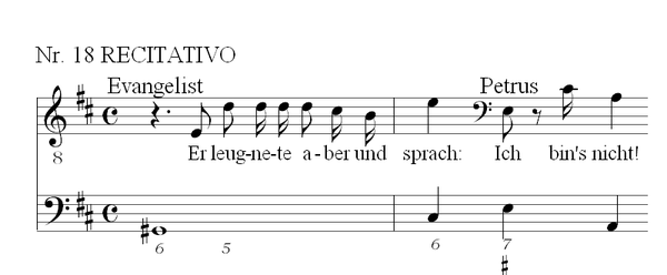 the following musical excerpt is from a recitative