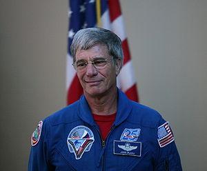 John E. Blaha - John Blaha at Kennedy Space Center in Nov '08 after a Meet an Astronaut event.