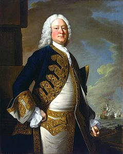 John Byng in uniforme della Royal Navy