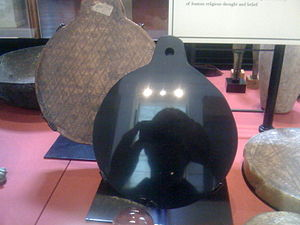 """John Dee - Dee's obsidian Aztec """"Scrying Mirror"""""""