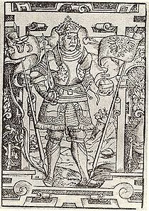 Presumed likeness of Jan I Olbracht on engraving, đầu thế kỷ 16