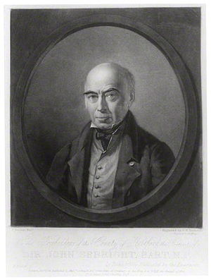 Sir John Sebright, 7th Baronet - Sir John Sebright, 7th Baronet, 1834 engraving by Samuel William Reynolds.