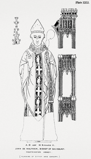 14th-century Bishop of Salisbury and Treasurer of England
