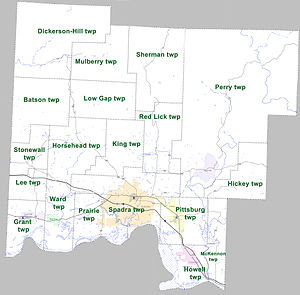 Johnson County, Arkansas - Townships in Johnson County, Arkansas as of 2010