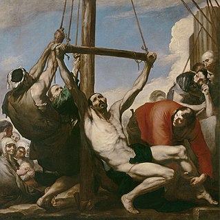 <i>The Martyrdom of Saint Philip</i> painting by Ribera