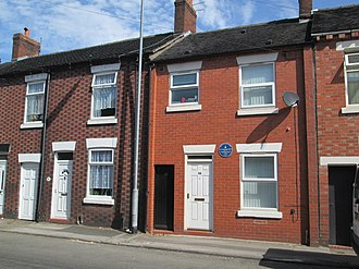 Joseph Cook - Cook lived in a small terraced house at 86 Newcastle Street for most of his childhood. The building now has a blue plaque commemorating his life.