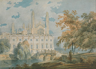 Clare Hall and King's College Chapel, Cambridge, from the Banks of the River Cam