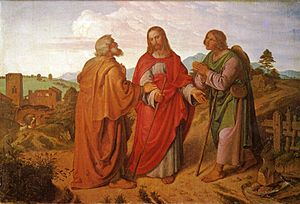 Cleopas - A depiction of Cleopas as one of the disciples who met Jesus during the Road to Emmaus appearance, by Joseph von Führich, 1837.