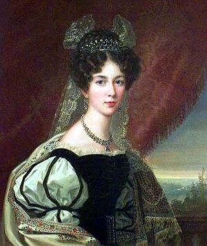 Josephine of Leuchtenberg -  Josephine of Leuchtenberg as crown princess, by Fredric Westin.