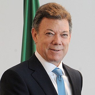 President of Colombia - Image: Juan Manuel Santos and Lula (square crop)