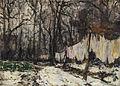 Jules Georges Moteley Parkbäume mit aufgehängter Wäsche.jpg