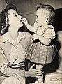 June Allyson plays with her daughter Pamela Allyson Powell, 1949.jpg