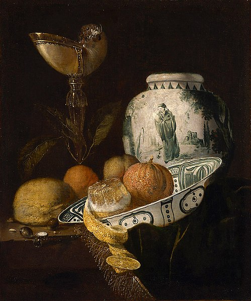 Juriaen van Streek, Still Life with Nautilus and Ginger Pot, 17th century, Kunsthistorisches Museum, Vienna, Austria.