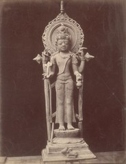 KITLV 87608 - Isidore van Kinsbergen - Sculpture of Shiva at Telaga in Kuningan - Before 1900.tif