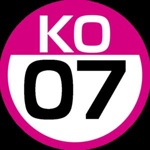 Shimo-takaido Station - Image: KO 07 station number