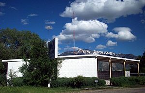 KOGN - The studio and radio tower for the station, in Ogden, Utah.
