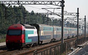 Guangzhou–Kowloon Through Train - A KTT train provided by Hong Kong's MTR Corporation