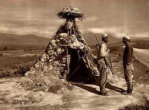Kachaks - Kosovo Albanian rebels controlling a road in Kosovo, 1920s