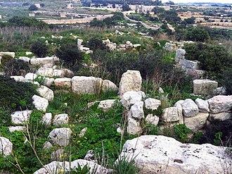 Ta' Kaċċatura Roman villa - The Roman villa complex at Ta' Kaċċatura.