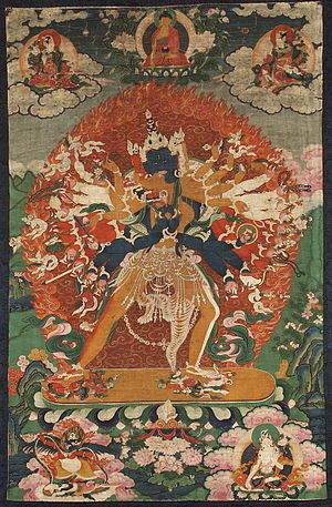 Deity yoga - Painting of Kalachakra, a yidam (Buryatia, 19th c.)