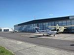 Kamenz airfield apron and hangars 2014.jpg