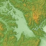 Kameoka Basin Relief Map, SRTM-1.jpg