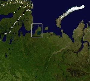 Kanin Peninsula - Location of the Kanin Peninsula