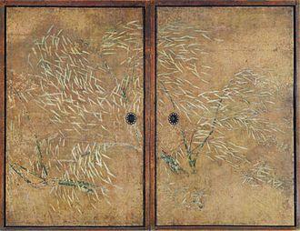 Kanō Eitoku - Trees on sliding doors