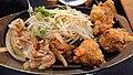 Karaage & pork ginger Teishoku 20200321-02.jpg