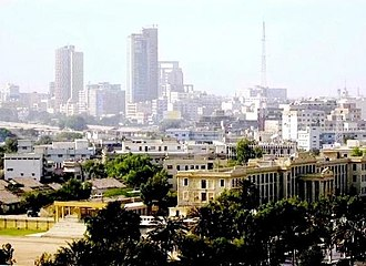 Economy of Sindh - A view of Karachi downtown, the capital of Sindh province