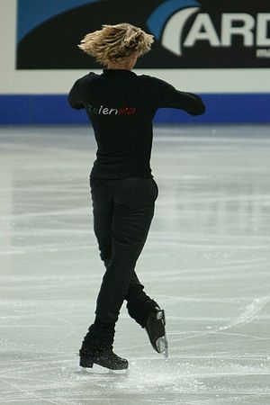 Figure skating spins - Image: Karel Zelenka Spin 2007 Europeans
