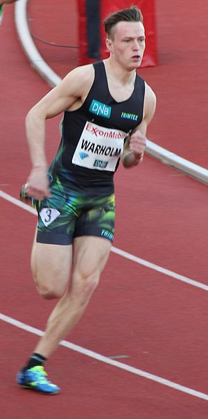 Karsten Warholm - Warholm at the 2015 Bislett Games