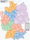 Germany map with area code