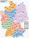 Deutschlandkarte mit Vorwahlnummern