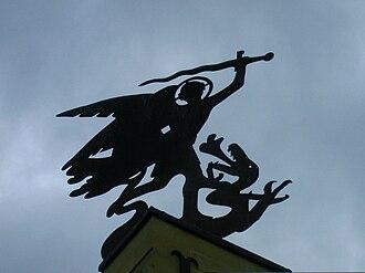Valkenburg Castle - Image: Kasteel Valkenburg originele windwijzer