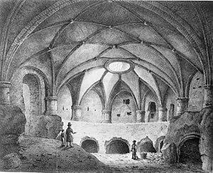 Vredenburg Castle - Image: Kasteel Vredenburg, gewelf onder zuidelijk bolwerk naar litho 1837 Utrecht 20212324 RCE