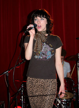 Kate Jackson (singer) - Jackson performing with The Long Blondes at the Razzmatazz Pop Bar, Barcelona, late 2006