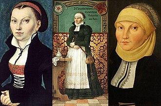 Katharina von Bora - Three depictions of Katharina von Bora